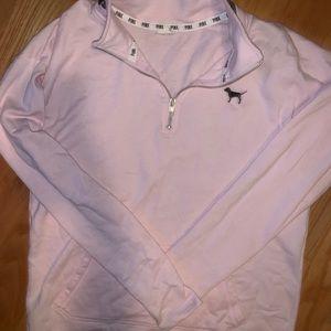 Light Pink VS 3/4 Zip Sweatshirt